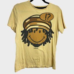 Smiley World Yellow Locks Beanie Graphic T Shirt
